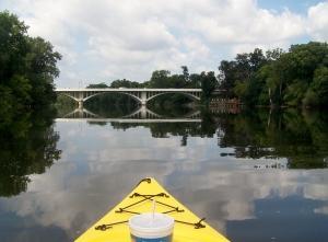 Kayaking on the St. Joe River.